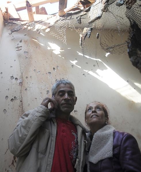 La casa dei Shadadi colpita da un Qassam palestinese nel 2012