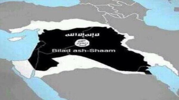 Il Levante (o Grande Siria) a cui aspira l'ISIS, stando alle mappe dei suoi siti web