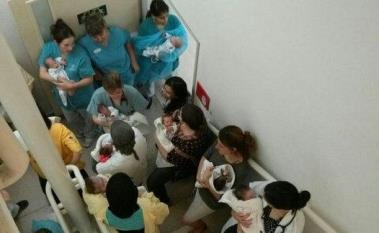 Una nursery in Israele. durante un allarma antiaereo