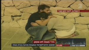 A Gerusalemme, durante un recente allarme antiaereo