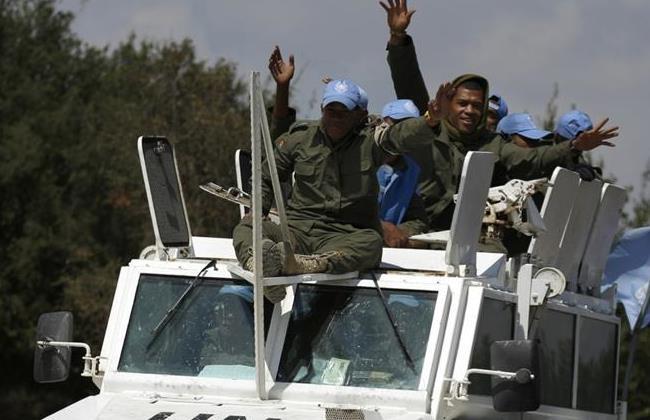 Caschi blu delle Fiji al loro ingresso in Israele dopo aver lasciato il Golan siriano lo scorso 15 settembre