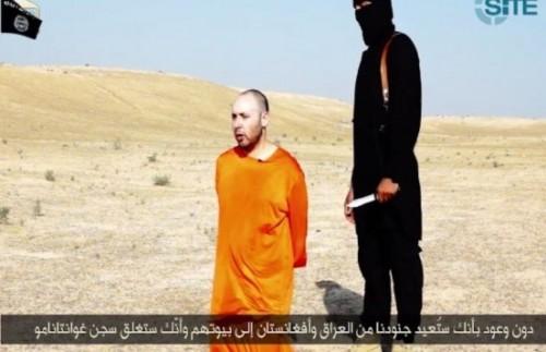 Un fermo-immagine dal video della decapitazione del giornalista Steven Sotloff, diffuso martyedì dall'ISIS