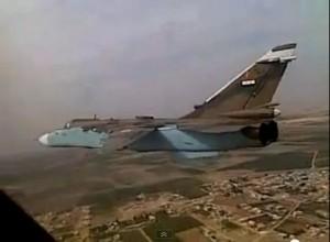 Un Sukoi 24 siriano simile a quello abbattuto sul Golan, 800 metri all'interno dello spazio aereo israeliano
