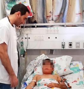 Il bambino siriano arrivato al confino con Israele a dorso d'asino