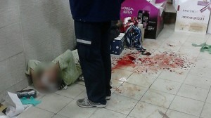 Un'immagine dell'attentato, dalle telecamere di sicurezza