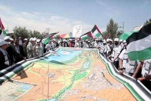 La narrazione palestinese è fondata su rivendicazioni che non ammettono compromessi con l'esistenza di Israele, come dimostrano invariabilmente tutte le mappe usate nella pubblicistica e nella propaganda