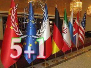 Le bandiere al negoziato sul nucleare di Teheran: Cina, Unione Europea, Francia, Germania, Iran, Russia, Regno Unito, Stati Uniti