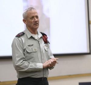 Il Capo di Stato Maggiore israeliano (uscente) Benny Gantz durante la conferenza di domenica scorsa Centro Interdisciplinare di Herzliya