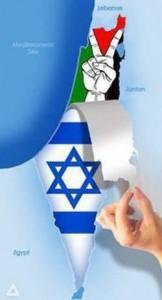 Propaganda palestinese per la cancellazione di Israele dalla mappa geografica