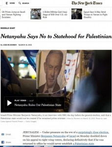 Il New York Times del 16 marzo 2015