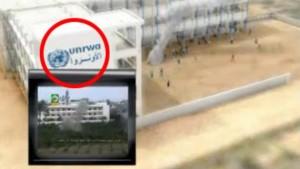 Un razzo palestiense lanciato la scorsa estate dal cortile di una struttura Onu (clicca per ingrandire)