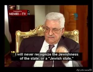 """""""Abu Mazen ha già detto di no e continuerà a dire di no ad ogni e qualsiasi proposta che non preveda il 'diritto al ritorno' in massa dentro Israele""""."""