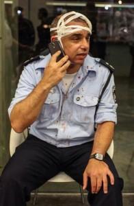 Un agente di polizia ferito negli scontri di domenica sera a Tel Aviv