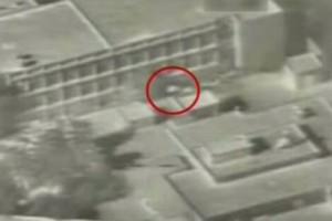 Un mortaio di Hamas (nel cerchio rosso) a ridosso di una scuola dell'Unrwa a Beit Hanoun (striscia di Gaza)