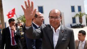 L'ex presidente tunisino Moncef Marzouki
