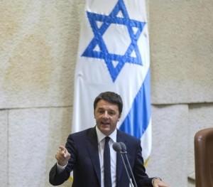 Il primo ministro italiano Matteo Renzi lo scorso 22 luglio alla Knesset