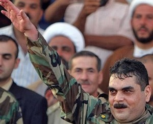 Il terrorista Samir Kuntar, dopo la sua scarcerazione da Israele