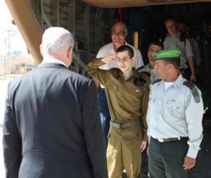 Gilad Shalit al suo ritorno in Israele