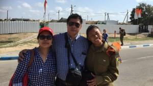 Joanna e i suoi genitori