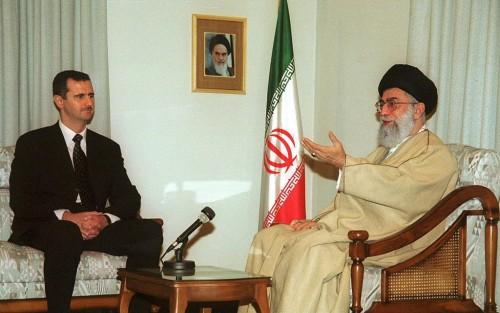Il presidente siriano Bashar al-Assad e la Guida Suprema iraniana. ayatollah Ali Khamenei, in una foto d'archivio