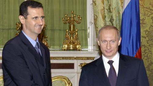 Il presidente siriano Bashar Assad e quello russo Vladimir Putin