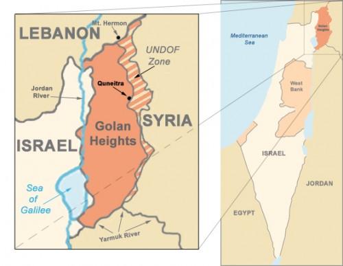 Le alture del Golan (clicca per ingrandire)