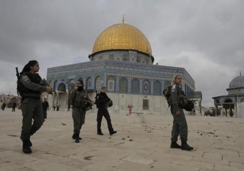 Polizia israeliana in servizio sul Monte del Tempio