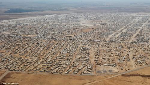 Il campo di profughi siriani Zaatari, in Giordania