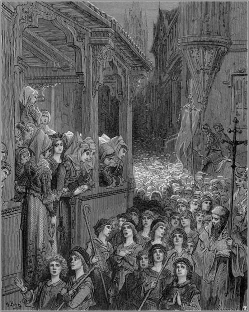 La crociata dei fanciulli in un'illustrazione di Gustave Doré