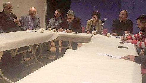 I parlamentari arabo-israeliani Zoabi, Ghattas, Zahalka all'incontro con le famiglie dei terroristi