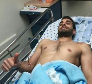 Mohammad Wari, arabo israeliano ferito dal terrorista di martedì scorso a Giaffa