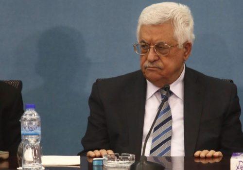 Il presidente dell'Autorità Palestinese Abu Mazen