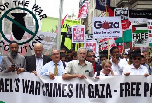 "Jeremy Corbyn ad una manifestazione ""anti-sionista"""