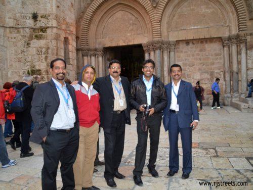 Turisti dall'India a Gerusalemme