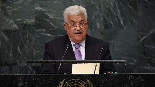 Il presidente dell'Autorità Palestinese Mahmoud Abbas (Abu Mazen) giovedì all'Onu