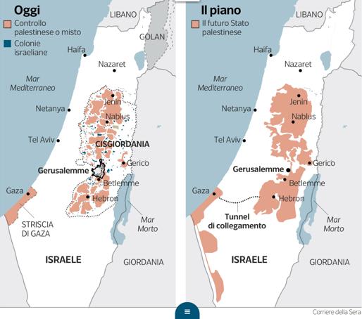 Israele Palestina Cartina.Kushner I Paesi Stanno Iniziando Ad Abbandonare I Vecchi Conflitti E A Muoversi In Direzione Della Pace Israele Net Israele Net